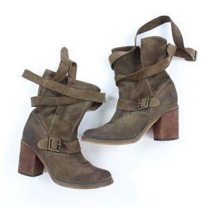 Jeffrey Campbell Women's France Ankle Wrap Boots
